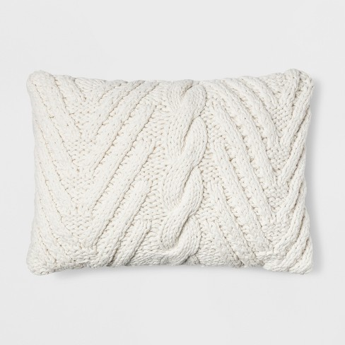 Chunky Knit Lumbar Throw Pillow - Threshold™ - image 1 of 3