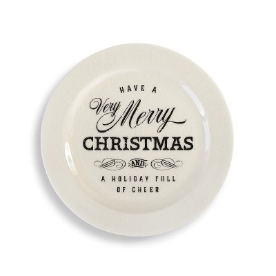 DEMDACO Very Merry Christmas Snack Plate White