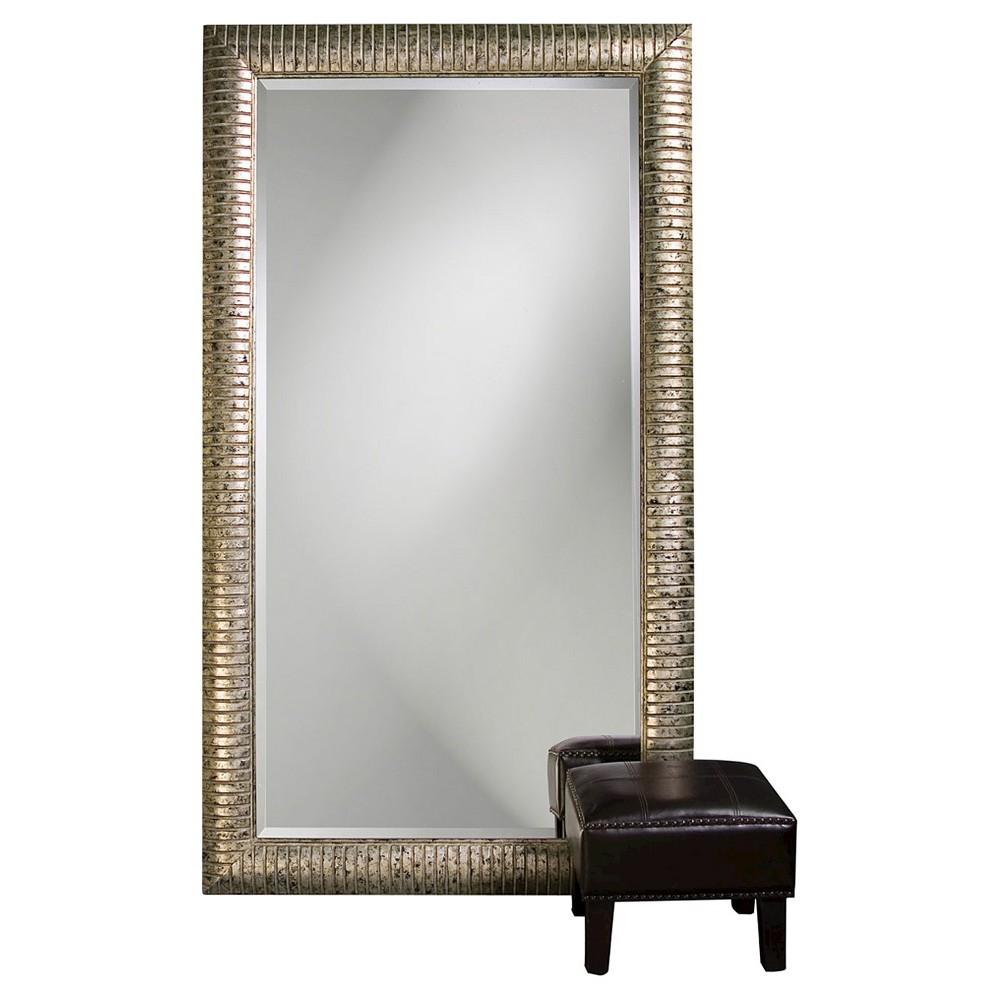 Rectangle Daniel Floor Mirror Gold - Howard Elliott