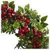 """Berry Boxwood Wreath (24"""") - Nearly Natural - image 2 of 3"""