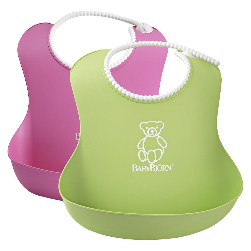 Babybjörn - Soft Bib - 2pc Green/Pink