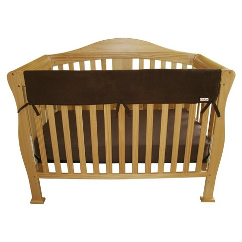 Trend Lab Fleece Front Rail Cover for Convertible Cribs - Brown - image 1 of 2