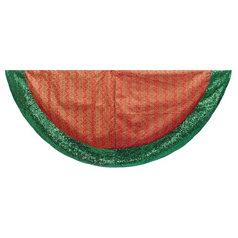 "48"" Red and Green Decorative Tree Skirt - image 1 of 1"