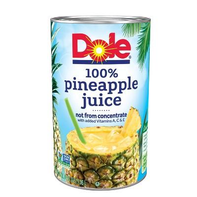 Dole 100% Pineapple Juice - 46 fl oz Can