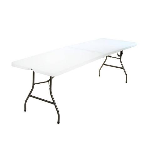 8 Fold In Half Blow Molded Folding Table White Room Joy