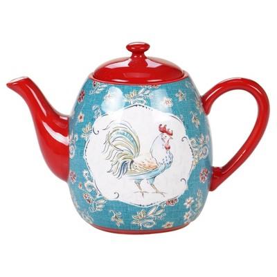 40oz Earthenware Morning Bloom Teapot - Certified International