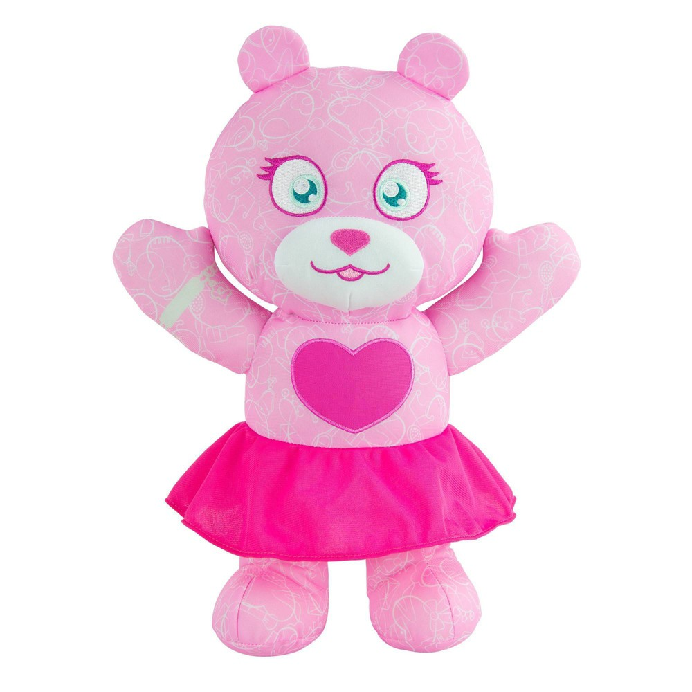 """Image of """"Doodle Bears 14"""""""" Plush Toy with 3 Washable Markers - Fashion"""""""