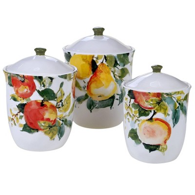 3pc Earthenware Ambrosia Canister Set - Certified International