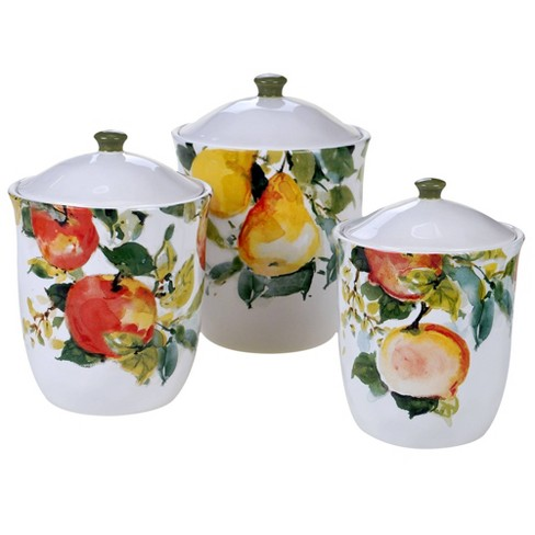 3pc Earthenware Ambrosia Canister Set - Certified International - image 1 of 2