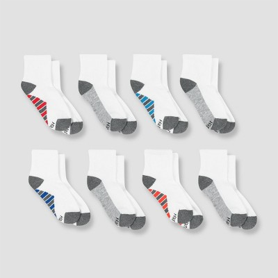 Hanes Premium Boys' 8pk Ankle Athletic Socks