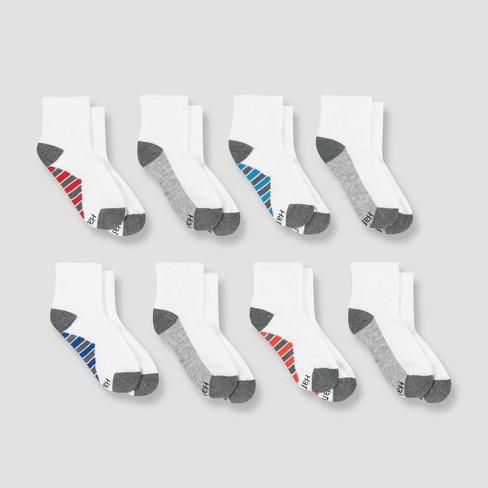 Hanes Premium Boys' 8pk Ankle Athletic Socks : Target