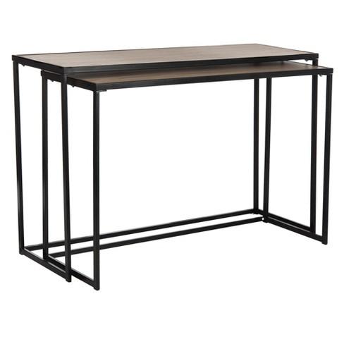 Garin Mid-Century Console Table - Light Brown & Black - Safavieh ...