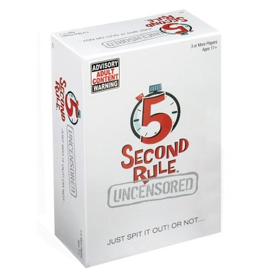 5 Second Rule Uncensored Board Game