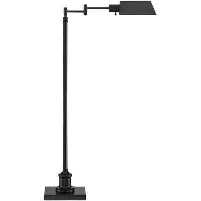 Regency Hill Modern Pharmacy Floor Lamp Dark Bronze Adjustable Metal Head for Living Room Reading Bedroom Office