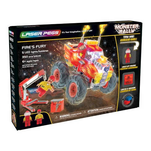 Laser Pegs Fire's Fury with Sound Module & MEGA Tires - image 1 of 10