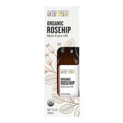 Aura Cacia Organic Rosehip Skin Care Oil - 1 fl oz