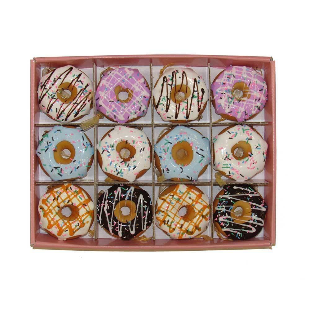 """Image of """"12pc 2.75"""""""" Kurt Adler Donut Ornament Set"""""""