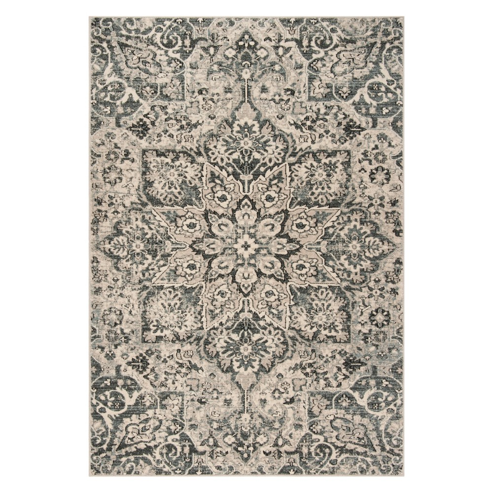 4X6 Medallion Loomed Area Rug Ivory/Gray - Safavieh Coupons