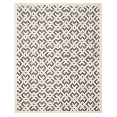 "Dark Gray/Ivory Geometric Tufted Area Rug 8'9""X12' - Safavieh - image 1 of 2"
