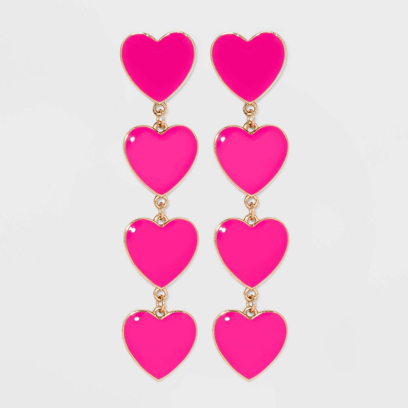 SUGARFIX by BaubleBar Stacked Heart Drop Earrings - image 1 of 7