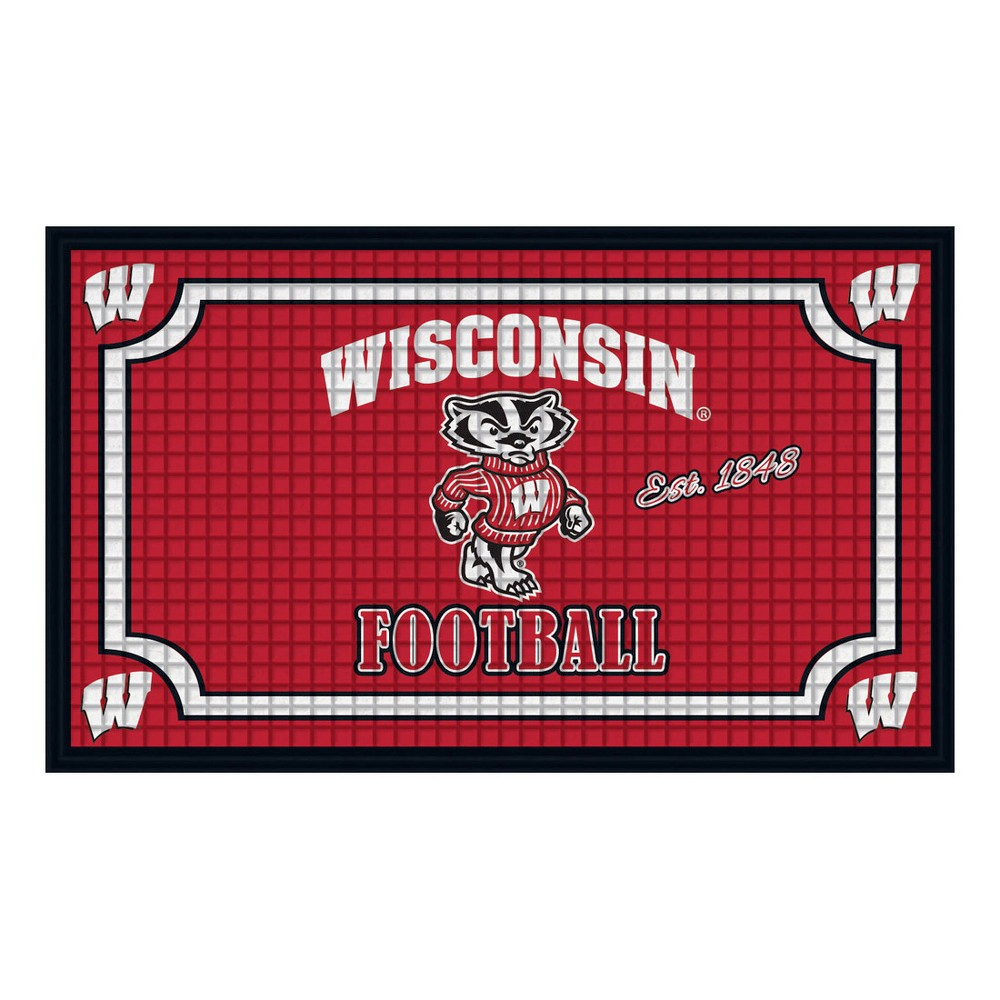 Wisconsin Badgers Embossed Welcome Mat - 18