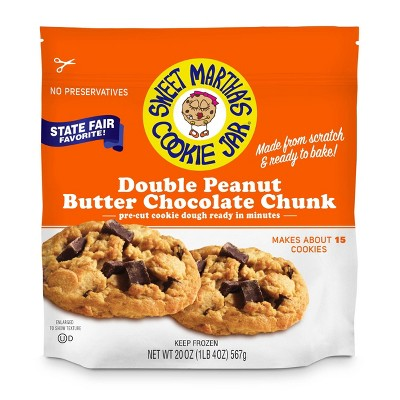 Sweet Martha's Double Peanut Butter Chocolate Chunk Frozen Cookie Dough - 20oz