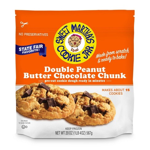 Sweet Martha's Double Peanut Butter Chocolate Chunk Frozen Cookie Dough - 20oz - image 1 of 3