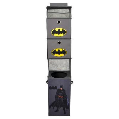 Batman® Closet Hanging Organizer with Storage Bins - Gray