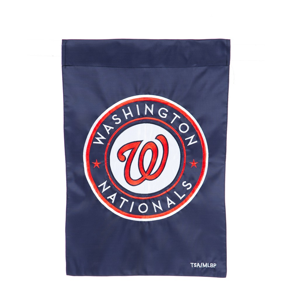 Washington Nationals Applique Garden Flag