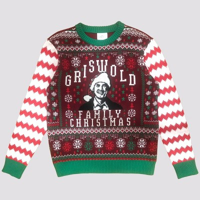 Men's National Lampoon Family Christmas Pullover Sweater - Red