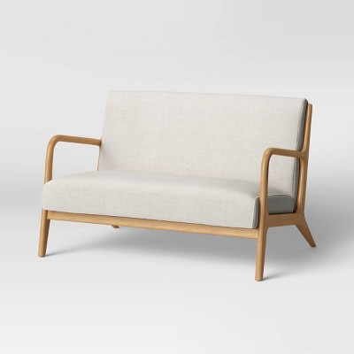 Esters Wood Arm Loveseat Husk Natural - Project 62™