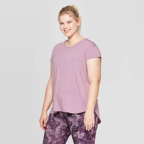 Women's Plus Size Short Sleeve Pindot T-Shirt - C9 Champion® - image 1 of 2