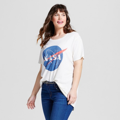 b344a80ddd4 Women s Plus Size NASA® Graphic T-Shirt Cream - Zoe+Liv   Target