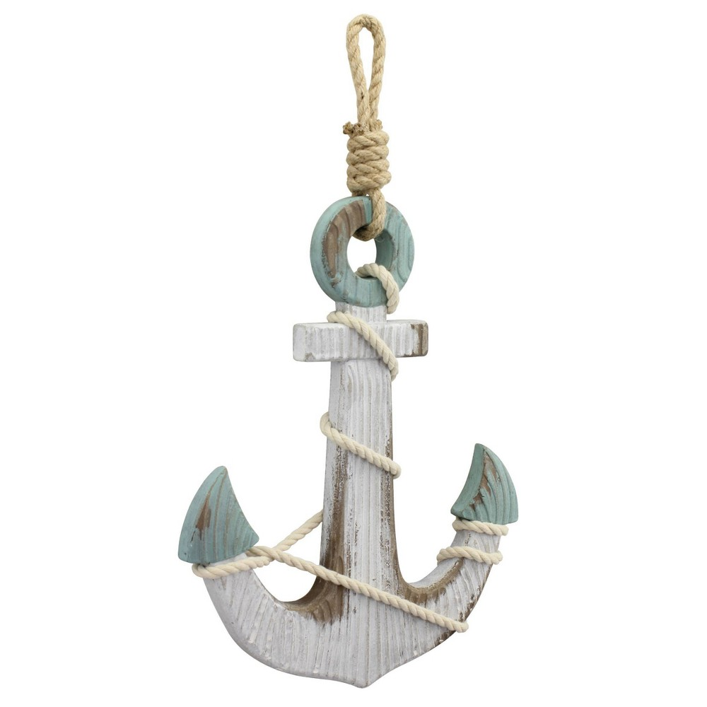 Image of Anchor Wall Art Off White - Stonebriar Collection