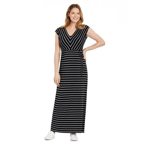 Motherhood Maternity   Striped V-Neck Maxi Maternity Dress - image 1 of 4