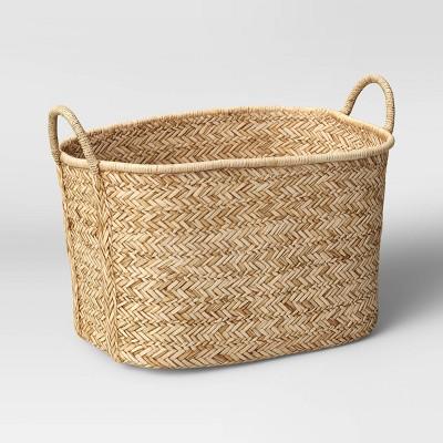 "14"" x 14"" Braided Straw Basket Natural - Threshold™"