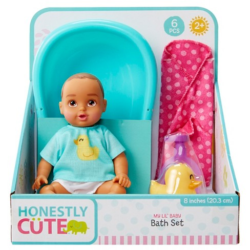 "Honestly Cute My Lil' 8"" Baby Bath & Splash Set Latina - image 1 of 6"