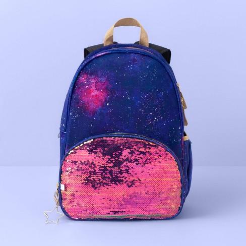 "17"" Flip Sequin Kids' Backpack Purple Cosmic - More Than Magic™ - image 1 of 2"