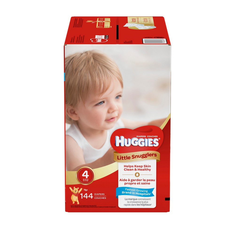Huggies Little Snugglers Diapers - Size 4 (144ct)
