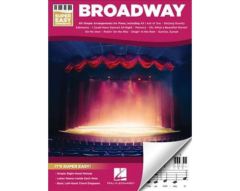 Broadway : Super Easy Songbook (Paperback) - image 1 of 1