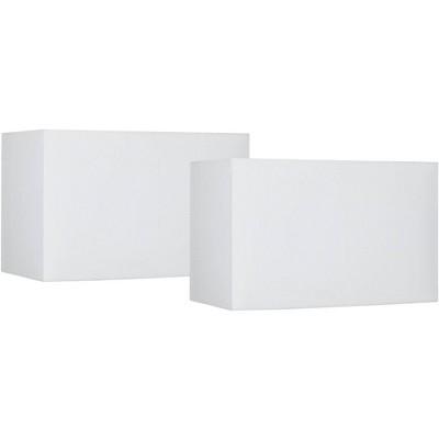 Brentwood White Set of 2 Hardback Shades 8/16x8/16 (Spider)