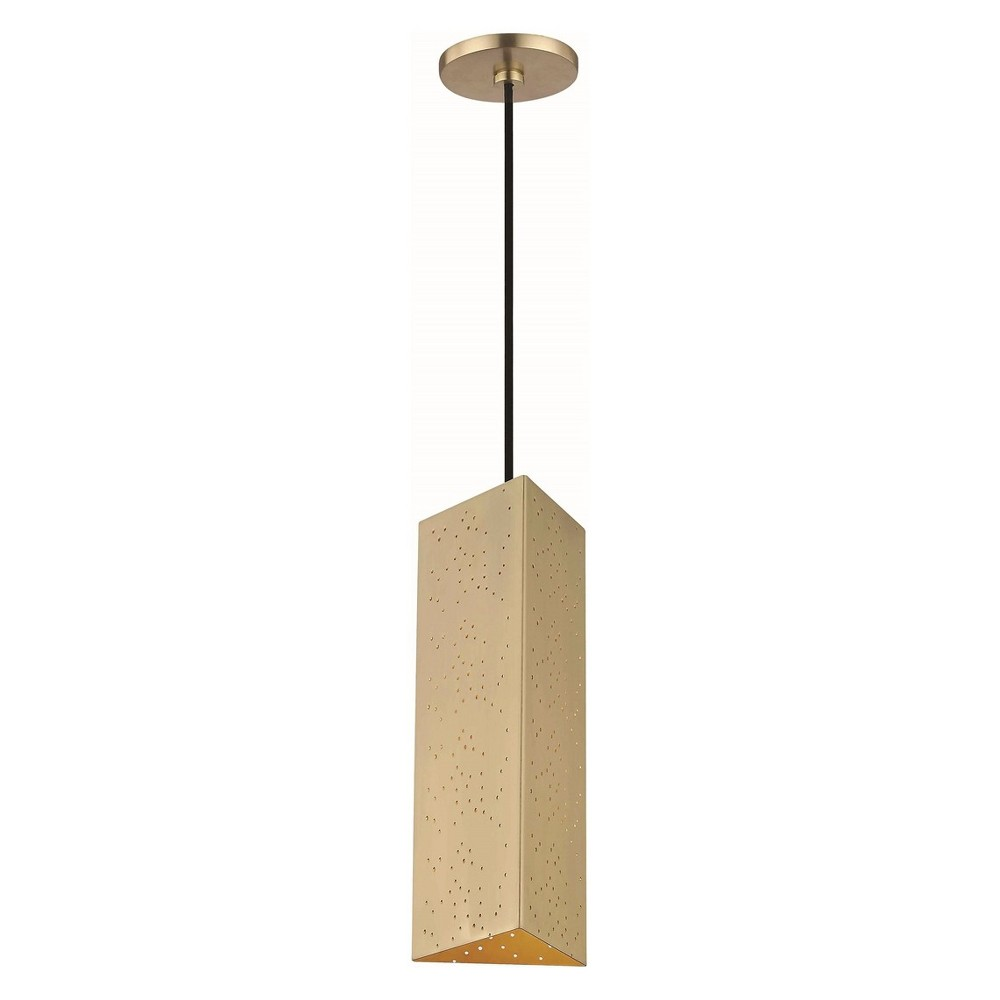 Image of Aiko LED Pendant Chandelier Aged Brass - Mitzi by Hudson Valley