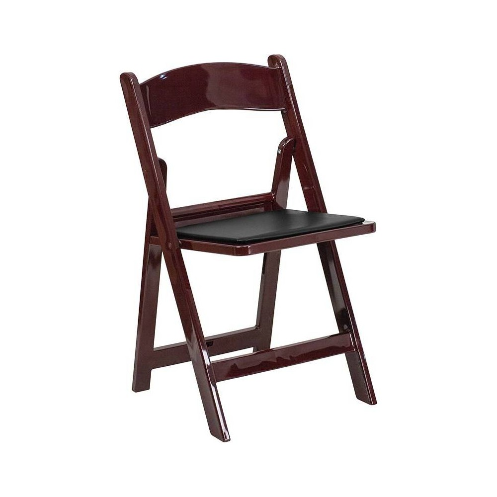 Resin Folding Chair Red Mahogany - Riverstone Furniture Collection