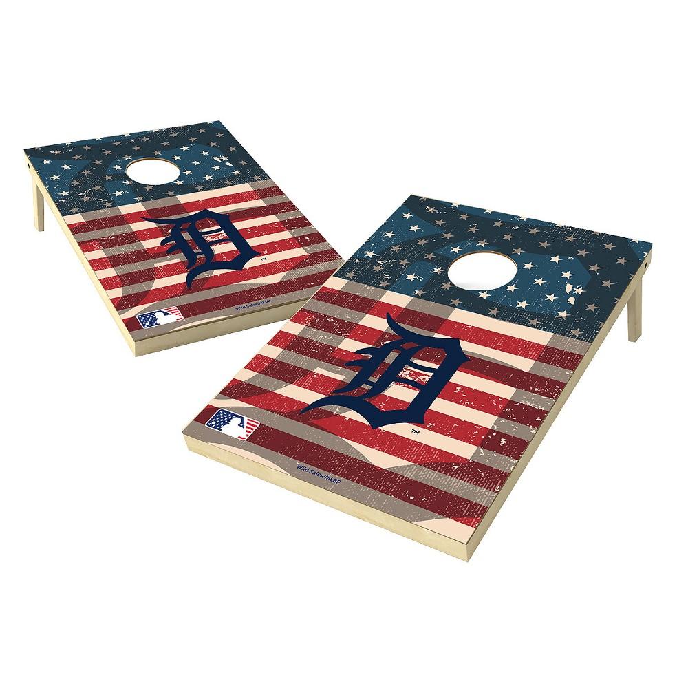 MLB Wild Sports Detroit Tigers 2x3 Tailgate Toss Cornhole Shield - Stars and Stripes