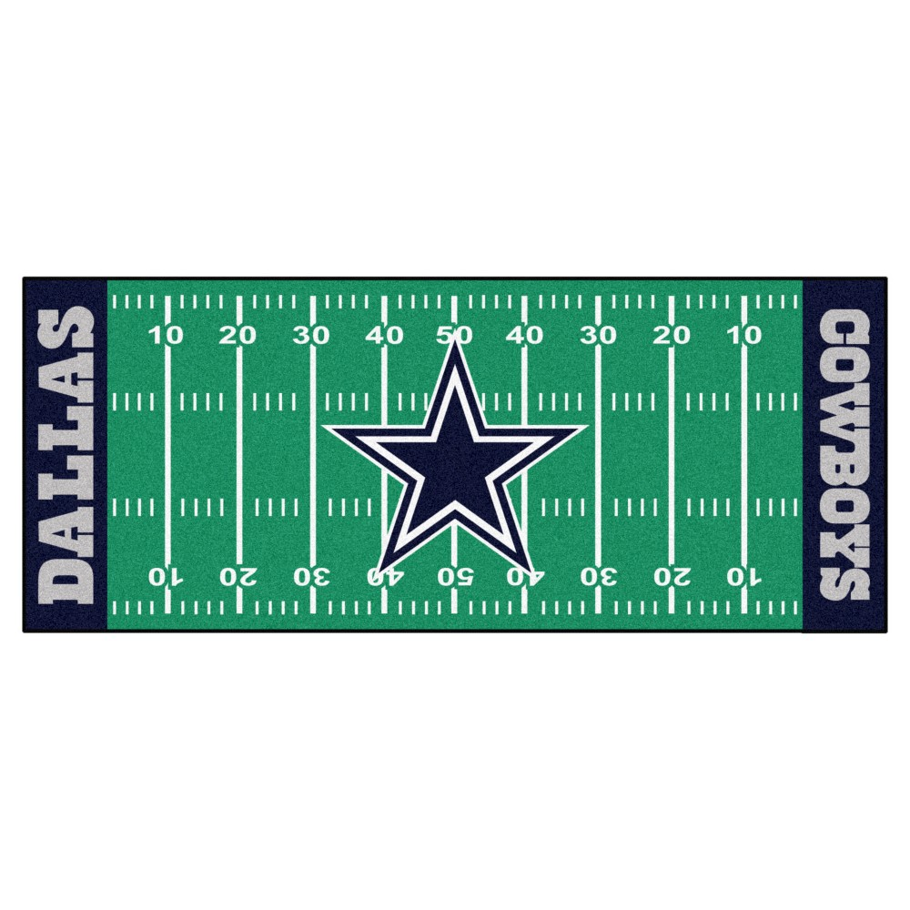 Dallas Cowboys Fan Mats Football Field Runner Rug 72