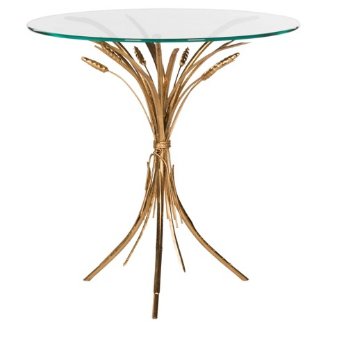 Bessi Side Table - Gold / Clear - Safavieh® - image 1 of 4