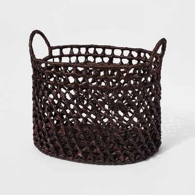 Dark Woven Cane Basket Large - Threshold™