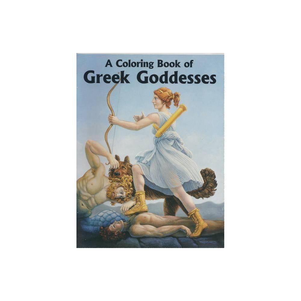 Color Bk Of Greek Goddesses Paperback