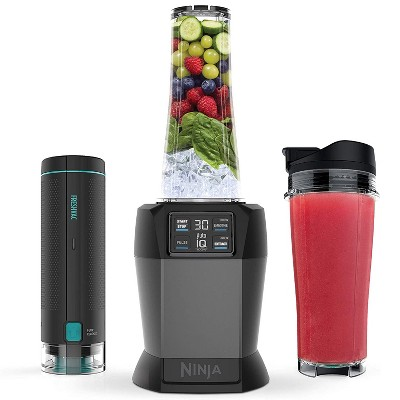 Ninja BL580 1100 Watt Countertop Hand Blender with Innovative FreshVac Technology and Single Serve To Go Cups (Certified Refurbished)