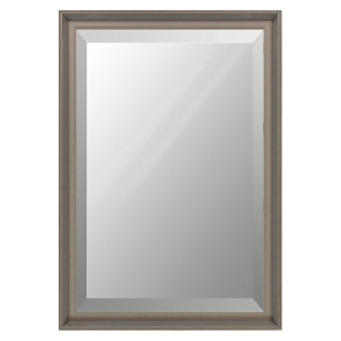 Rectangle Chatwyn Decorative Wall Mirror Dark Silver - Surya - image 1 of 1